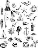 Summer sea icons Royalty Free Stock Photo