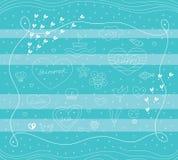 Summer sea illustration Stock Photos