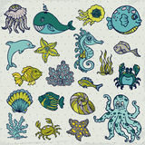 Summer Sea Life creatures Royalty Free Stock Photography