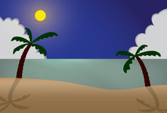 Summer sea night Stock Photo