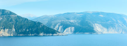 Summer sea panorama (Greece, Kefalonia). Stock Images
