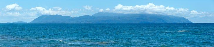 Summer sea panorama (Greece, Lefkada). Royalty Free Stock Images