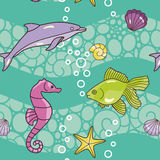 Summer sea pattern Royalty Free Stock Photo