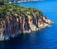 Summer sea rocky coast view Spain. Royalty Free Stock Photo