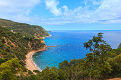 Summer sea rocky coast view Spain. Royalty Free Stock Image