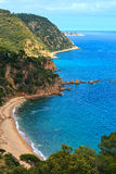 Summer sea rocky coast view Spain. Stock Photo
