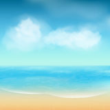Summer sea and sand background Stock Image
