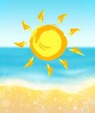 Summer.Sea,sandy beach and sun. Stock Image