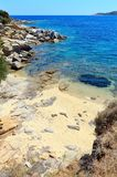 Summer sea coast Halkidiki, Greece. Stock Photography