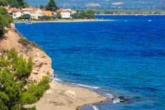 Summer sea coast Halkidiki, Greece. Stock Image