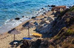 Summer sea coast Halkidiki, Greece. Royalty Free Stock Photo