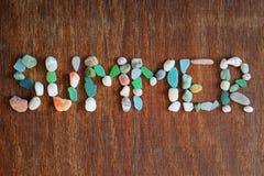 Summer, sea shells, stones Stock Images