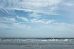Summer sea with sky and free space Royalty Free Stock Photos