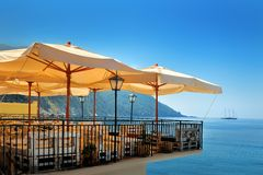 Summer sea terrace  bar Royalty Free Stock Images