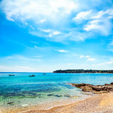 Summer Sea View with Clear Water and Blue Sky Royalty Free Stock Photo