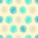 Summer seamless background with flower polka dots Stock Photos
