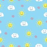 Summer Seamless Background. Seamless pattern background. Summer theme Stock Photos