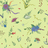 Summer seamless floral pattern background. Vector illustration Stock Photos