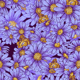 Summer seamless floral pattern Stock Photo