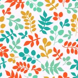 Summer seamless leaf pattern. Stock Images