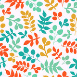 Summer seamless leaf pattern. Stock Photo