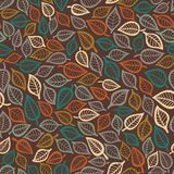Summer seamless leaf pattern. Royalty Free Stock Photography
