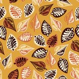 Summer seamless leaf pattern. Stock Photos