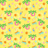Summer seamless pattern Stock Photos