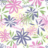 Summer seamless pattern Royalty Free Stock Photos