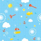 Summer seamless pattern royalty free illustration