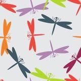 Summer seamless pattern animals dragonfly royalty free illustration
