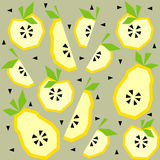 Summer seamless pattern with apple, pear Stock Photography