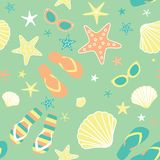 Summer seamless pattern Royalty Free Stock Images