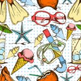Summer seamless pattern Stock Image