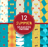 12 Summer seamless pattern collection. Set of summer seamless. Pattern. vector illustration Royalty Free Stock Photos