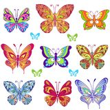 Summer Seamless pattern with colorful butterflies. Decorative ornament backdrop for fabric, textile, wrapping paper. vector illustration