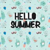 Summer Seamless Pattern vector illustration