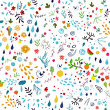 Summer seamless pattern. Stock Image
