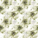Summer seamless pattern with flowers. Watercolor illustration Royalty Free Stock Photos