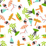 Summer seamless pattern. Royalty Free Stock Images