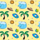 Summer seamless pattern. Illustration of summer seamless pattern Royalty Free Stock Images