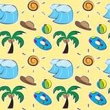 Summer seamless pattern. Illustration of summer seamless pattern vector illustration