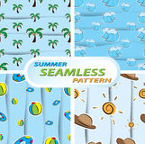 Summer seamless pattern. Illustration of summer seamless pattern Royalty Free Stock Photography