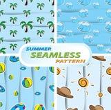 Summer seamless pattern. Illustration of summer seamless pattern royalty free illustration
