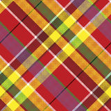 Summer seamless pattern madras check fabric texture Royalty Free Stock Images