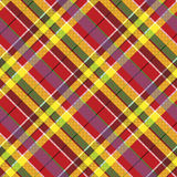 Summer seamless pattern madras check fabric texture Stock Image