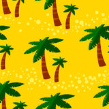 Summer seamless pattern with palms. Background with tropical pla Royalty Free Stock Image