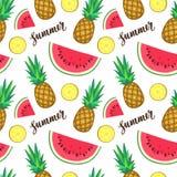 Summer seamless pattern Stock Image
