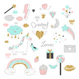 Summer seamless pattern with pink flamingos. royalty free illustration