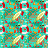 Summer seamless sea patterns. Stock Photography